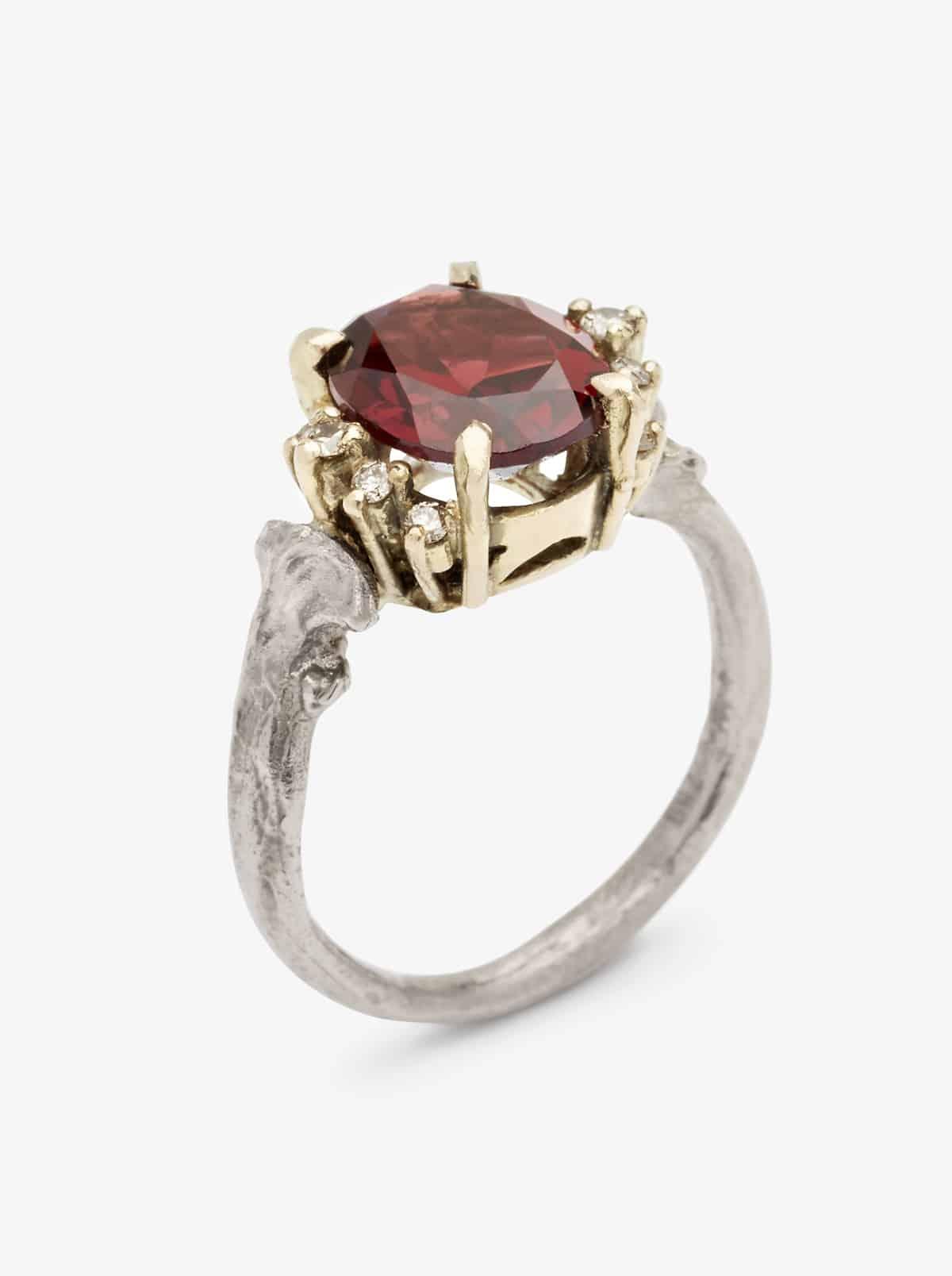 unique ruby engagement ring nouba au