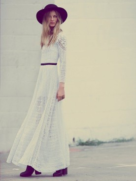 Free People Victorian lace dress