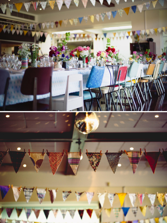 colourful DIY bunting