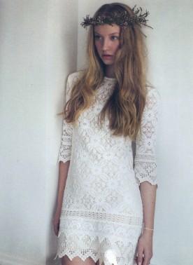 Short crochet wedding dress by Kitsch Bitsch