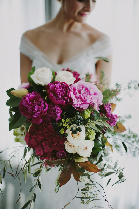 Vibrant bridal bouquet by Brisbane florist French Flowers
