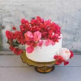 bougainvillea cake topper