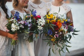flannel, poppy and eucaluptus bouquets  | James Goff Photography