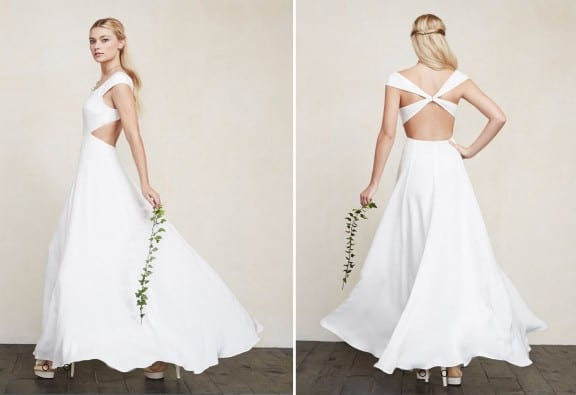 Geometric wedding dress by Reformation | Top 5 wedding dresses under $1000