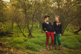 Woodland love shoot styled by F* Yeah Gay Weddings