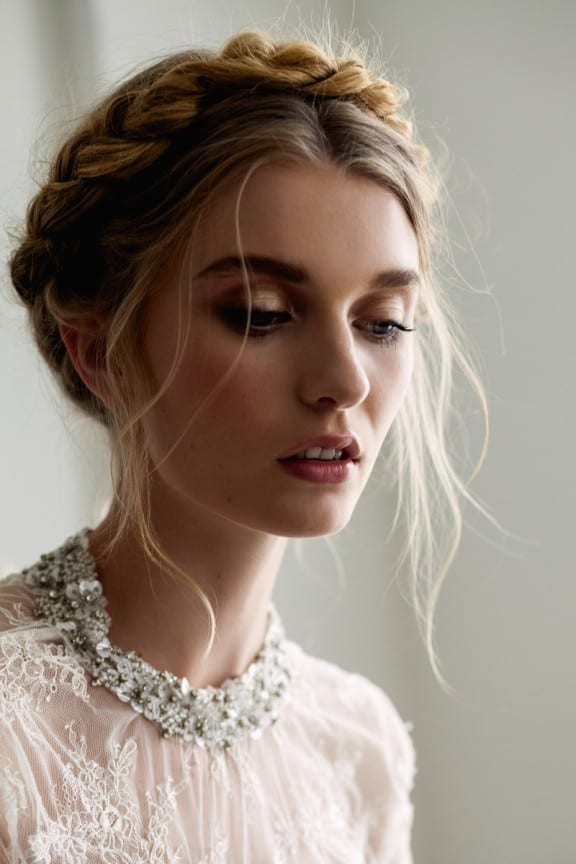 bridal braid crown | Photography by Nick Dale