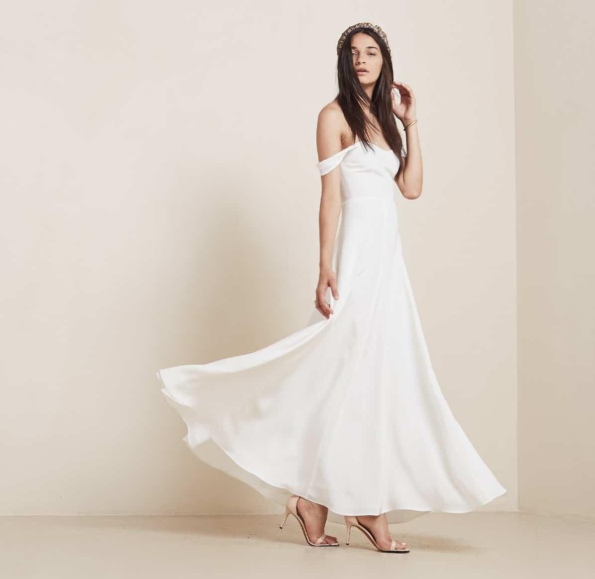 Constance dress by reformation top 5 wedding dresses for Best wedding dresses under 1000