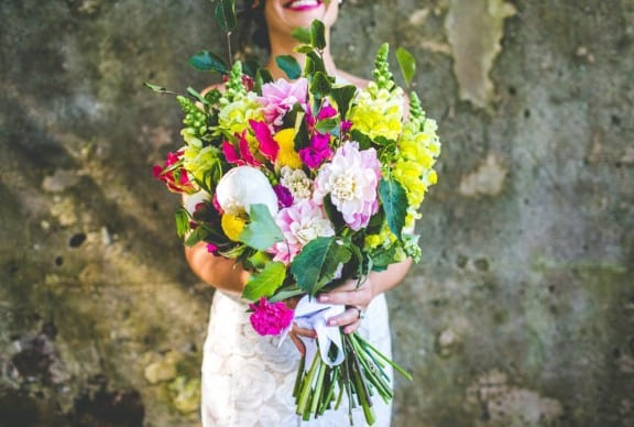 Bouquet by Gypsy Flora | Jess & Nick's Colourful Bush Bank Wedding | Photography by The Evoke Company