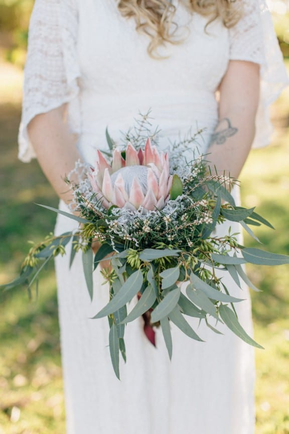 Native Australian wedding bouquet | Photography by Jazzy Connors