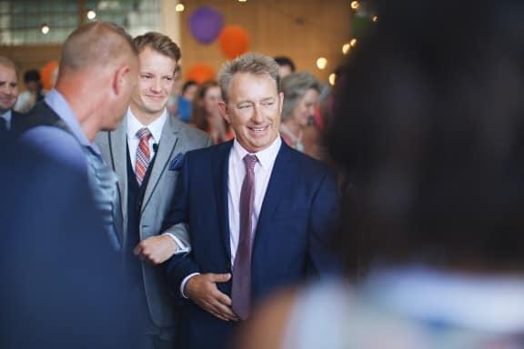 Evan & Trent's warehouse wedding at Fremantle Docks | Photography by Jarrad Seng