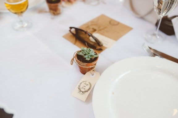 Terracotta succulent wedding favours