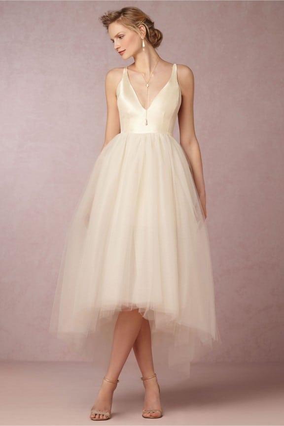 BHLDN Gillian tulle wedding dress | Best wedding dresses under $1000