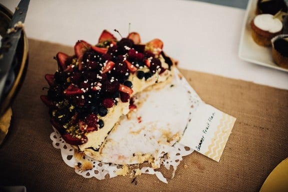 Summer berry flan | Photography by Fiona Vail