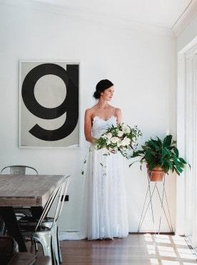 Modern bride in Grace Loves Lace
