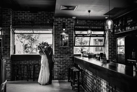 Modern Perth wedding at Halcyon Pintxos & Wine | Photography by CJ Williams