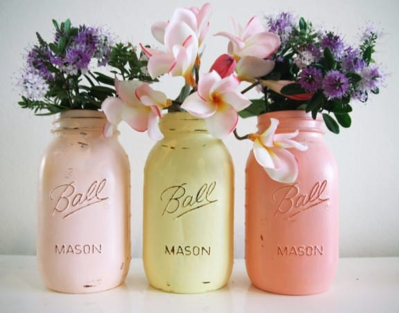 Pastel Mason jars | Top Australian Etsy Stores for Weddings