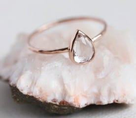 White topaz gold ring | Top Australian Etsy Stores for Weddings
