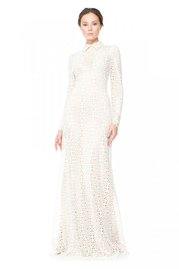 Laser-cut wedding dress by Tadashi Shoji | Best wedding dresses under $1000