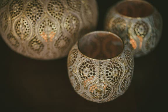 Gold Moroccan vases
