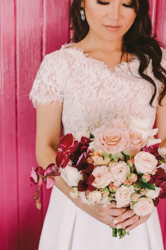 Rose and orchid bouquet by Grandiflora | Photography by Lara Hotz