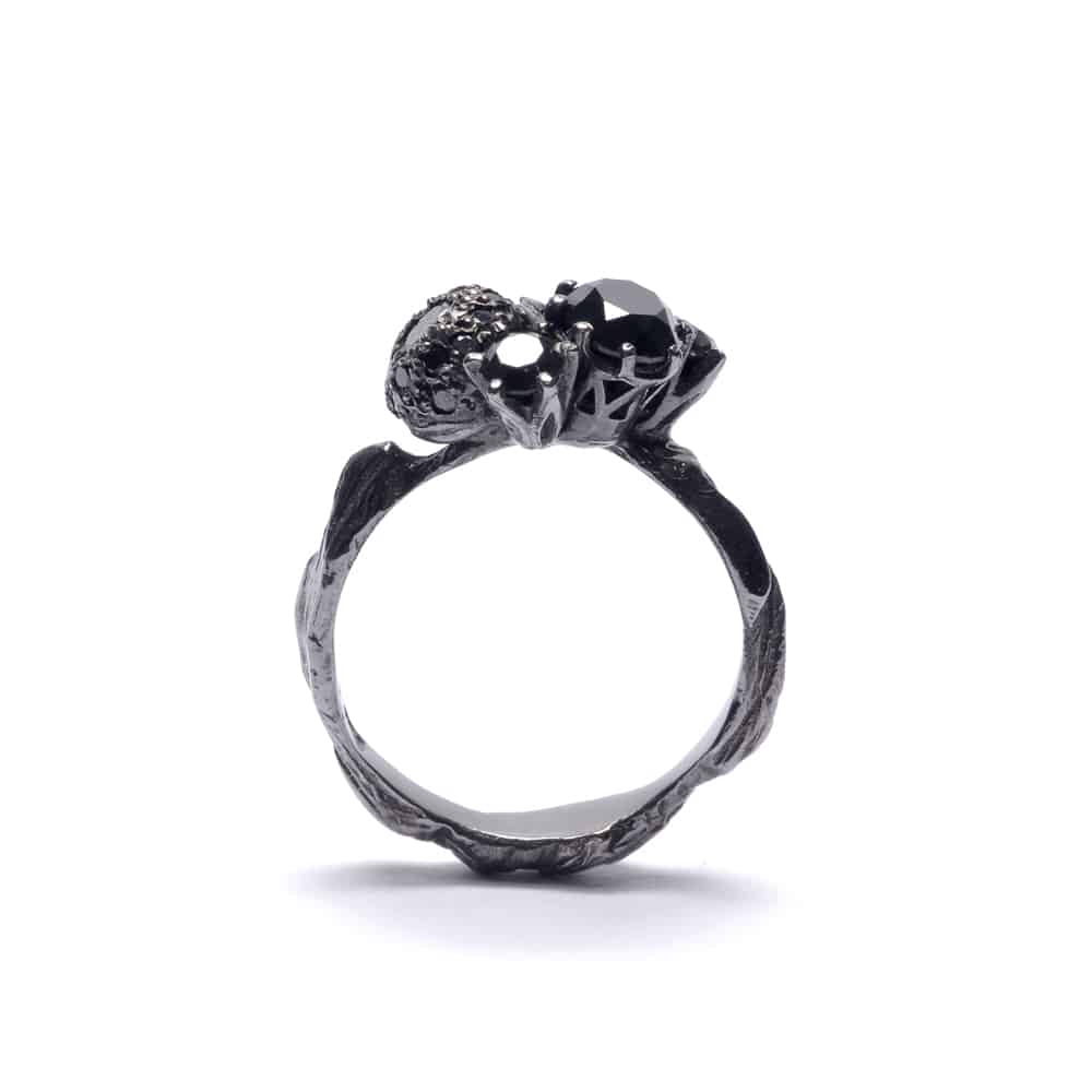 Unique engagement rings by Australian jewelers / Black engagement ring by Julia deVille