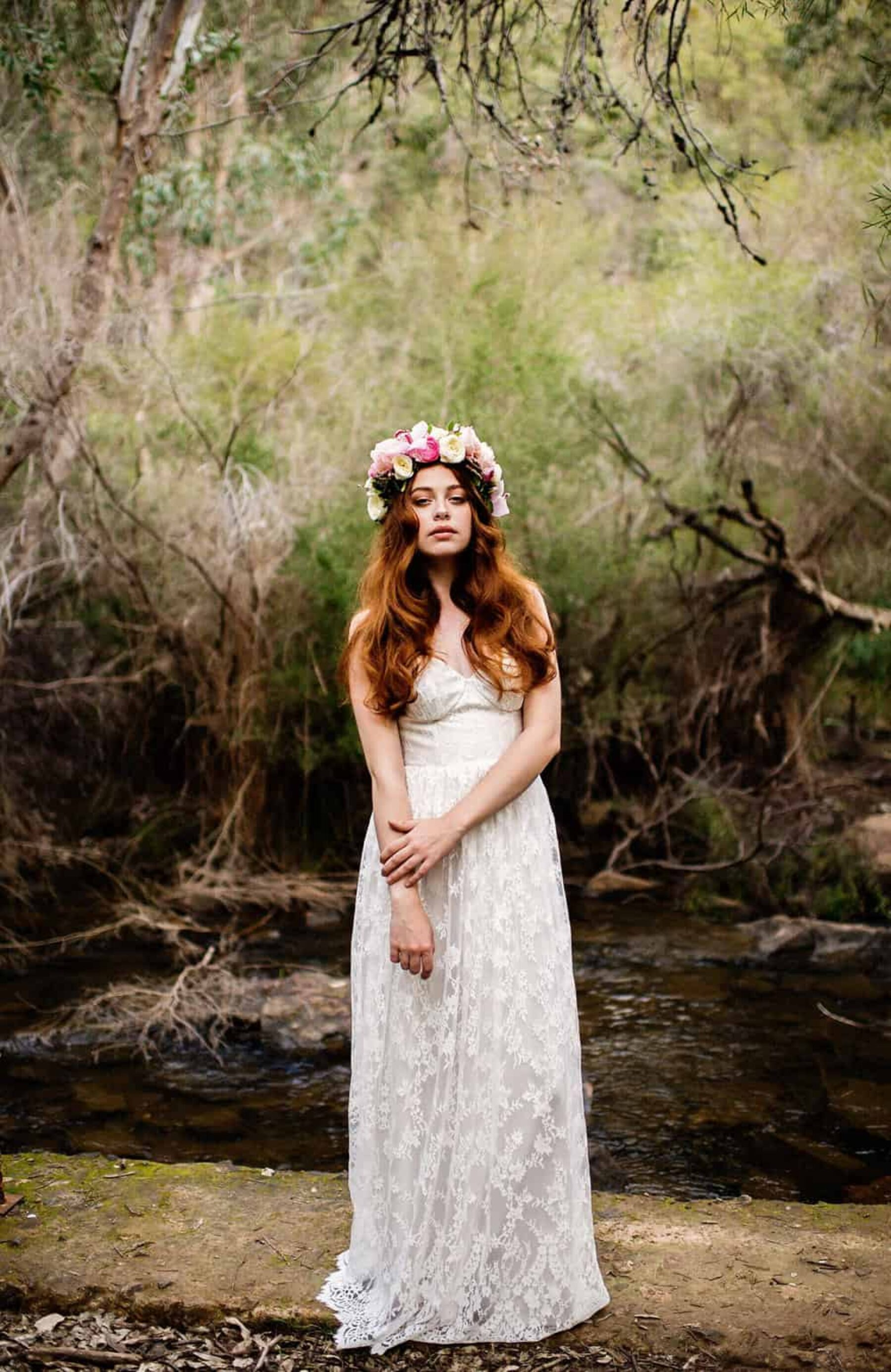 Breathtaking bridal editorial at Serpentine Falls, Western Australia | Fiona Vail Photography