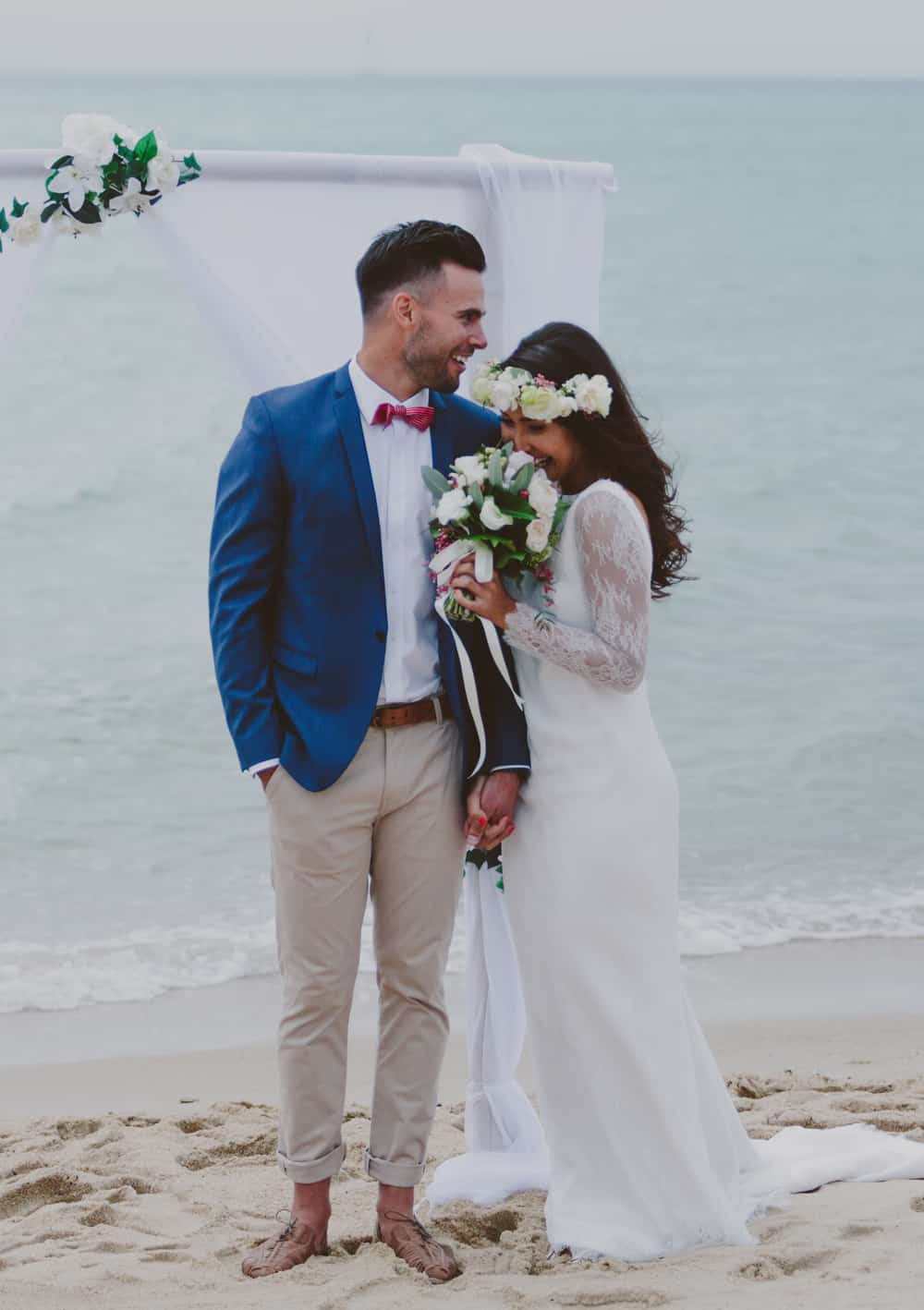 2015's best gressed grooms / chinos and cobalt blue jacket by Jack London