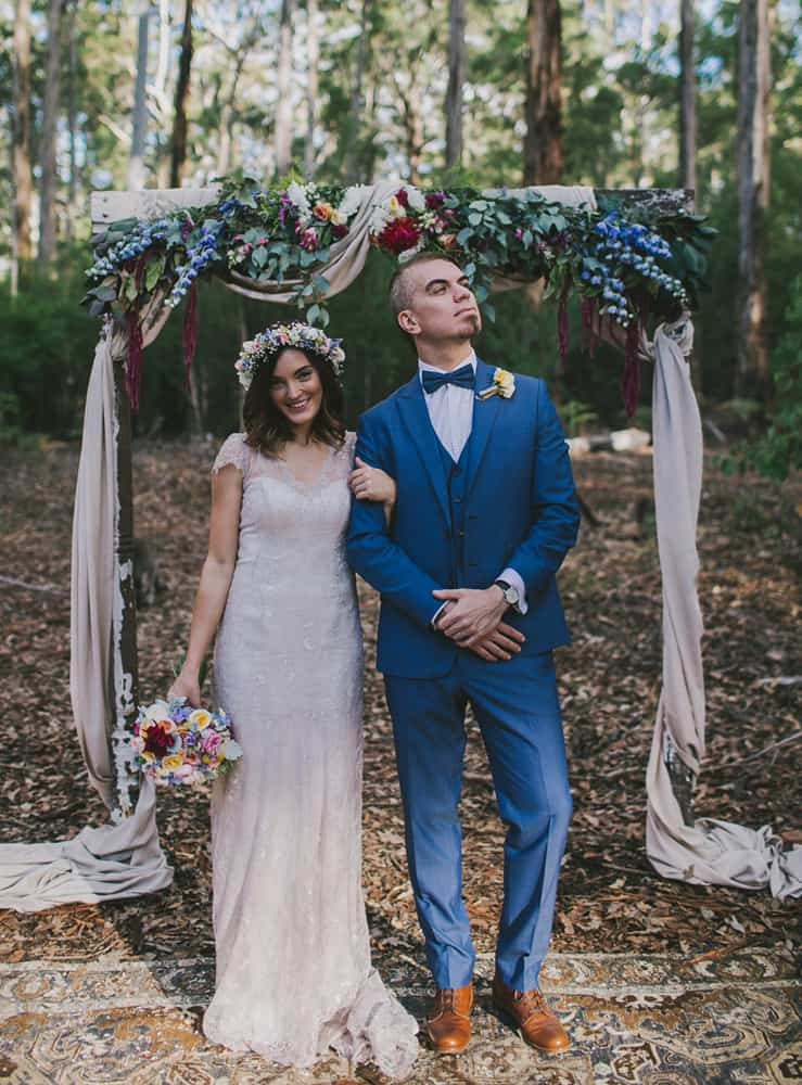 2015's best gressed grooms / Cobalt blue three piece suit