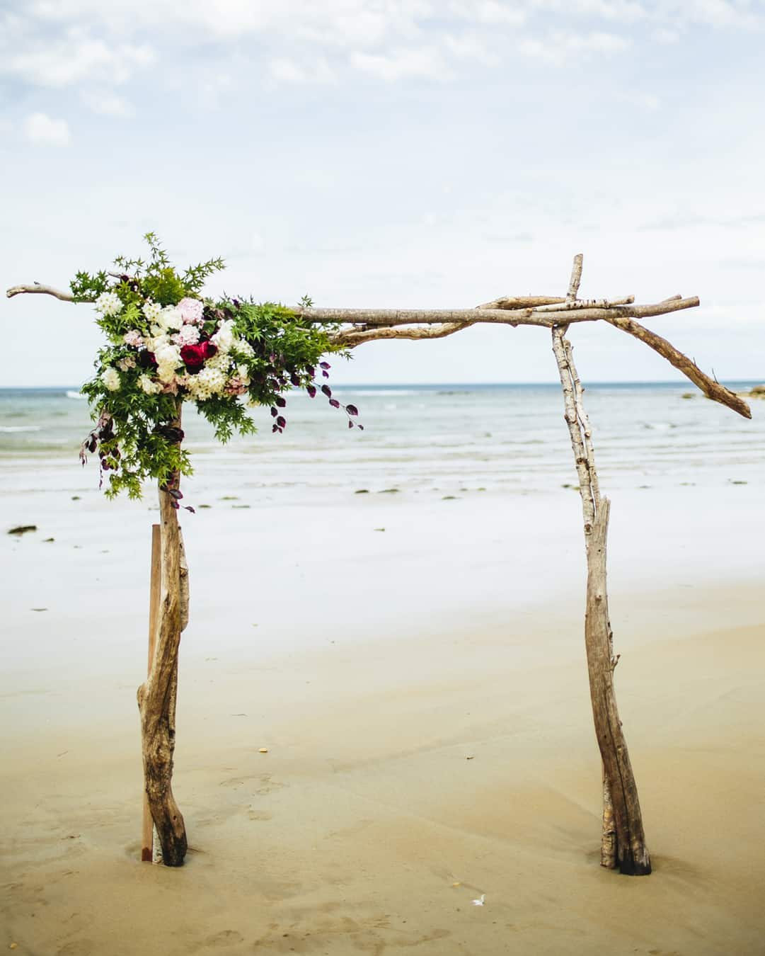 Best DIY wedding details of 2015 / Driftwood wedding arbour