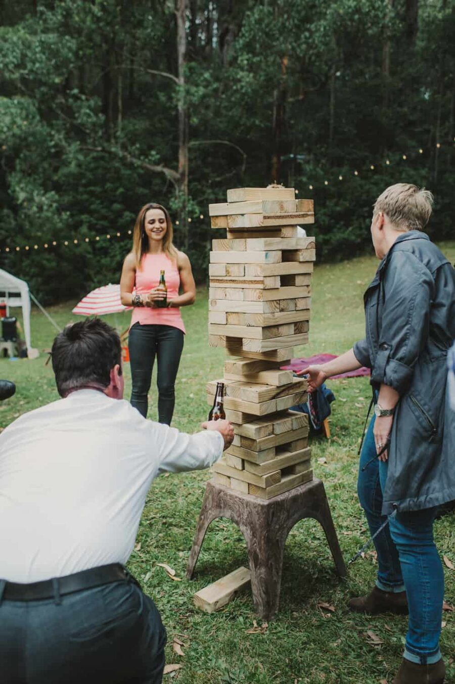 wedding lawn games – giant jenga
