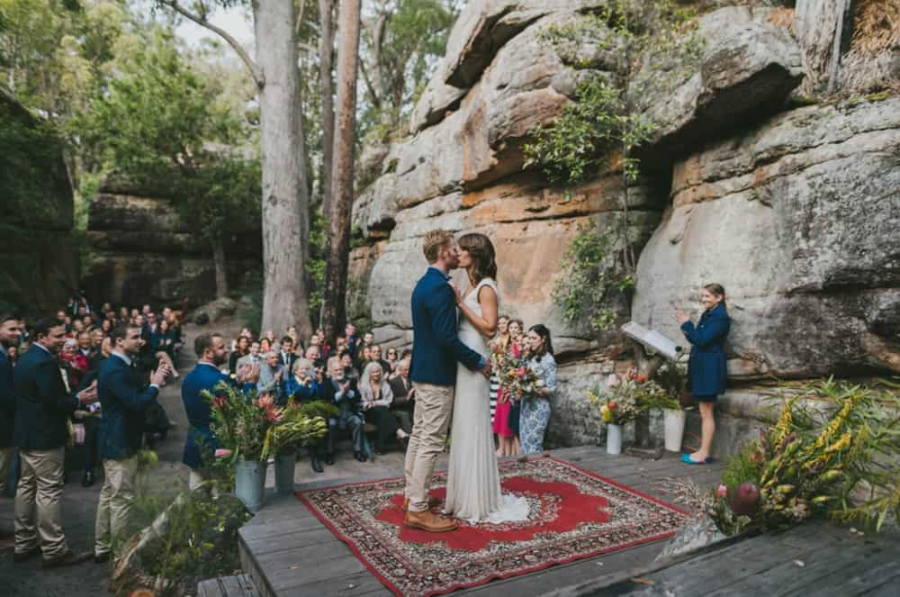 Best outdoor wedding ceremony locations / Rock Cathedral, Kangaroo Valley Bush Retreat
