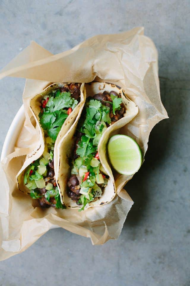 Black bean tacos by My Darling Lemon Thyme / 10 clean-eating food bloggers we love