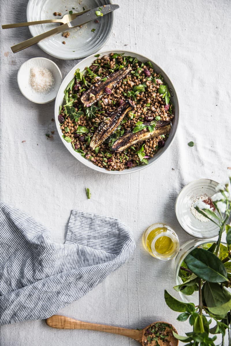 Eggplant lentil salad by Cook Republic / 10 clean-eating food bloggers we love