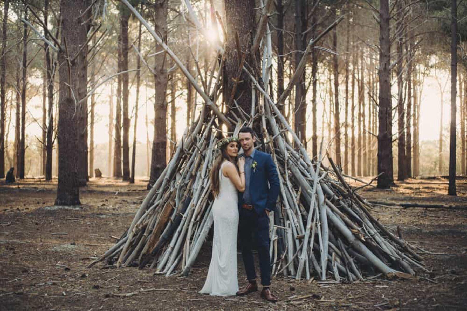 Boho forest wedding / Sarah Jean Photography