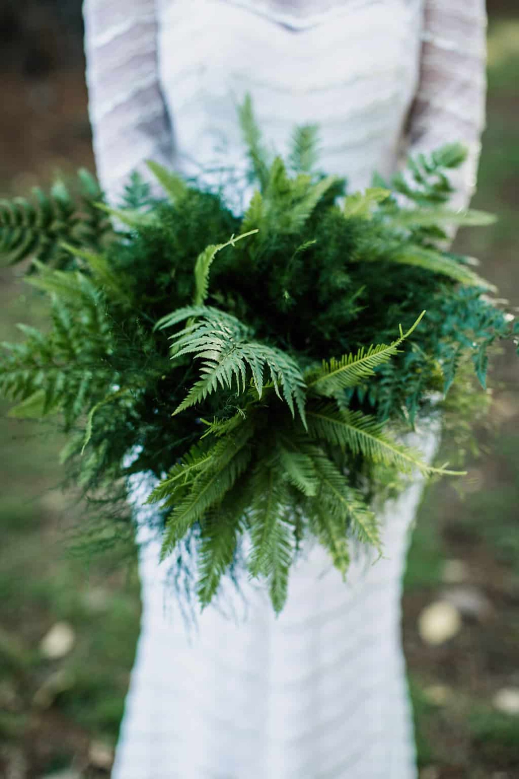 green fern wedding bouquet