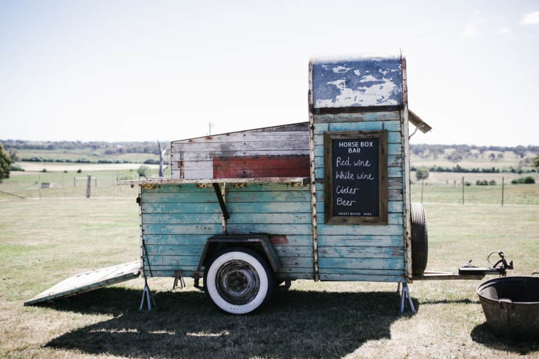 rustic vintage mobile bar