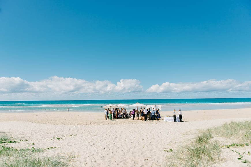 Australian waterfront wedding venues - Barefoot at Broken Head