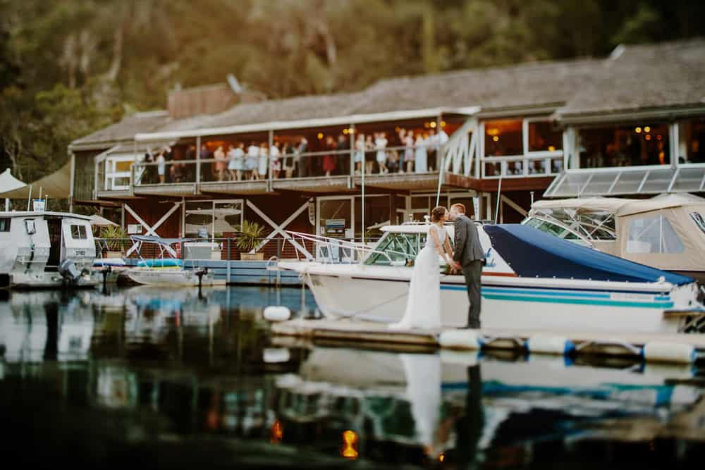 Australian waterfront wedding venues - Pilu at Akuna Bay