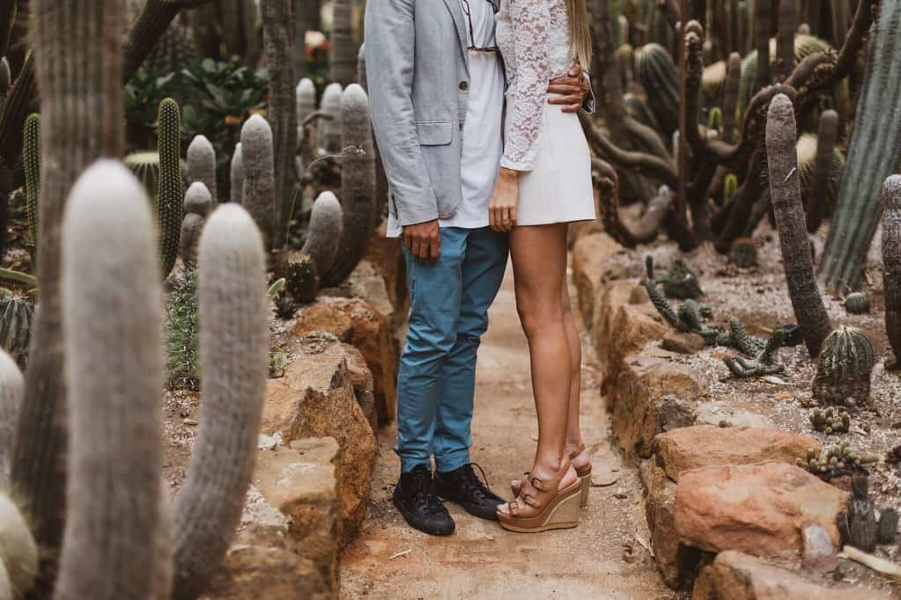 Cactus farm engagement shoot / photography by Janneke Storm