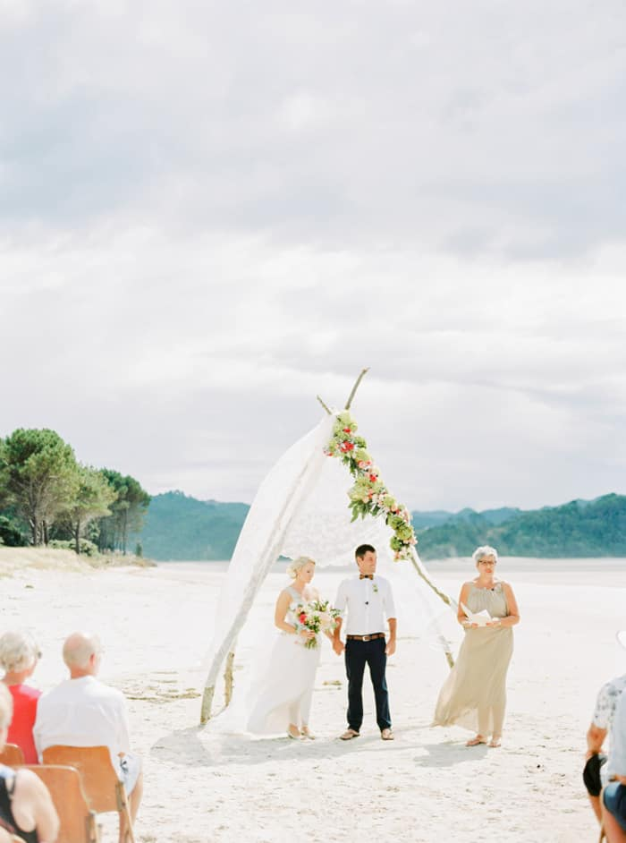 New zealands best open air wedding spots nouba new matarangi beach wedding new zealand junglespirit Image collections