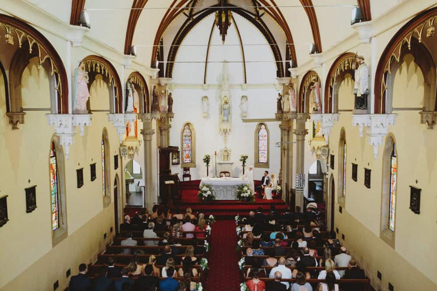 Holy Name of Mary Church wedding, Hunters Hill Sydney