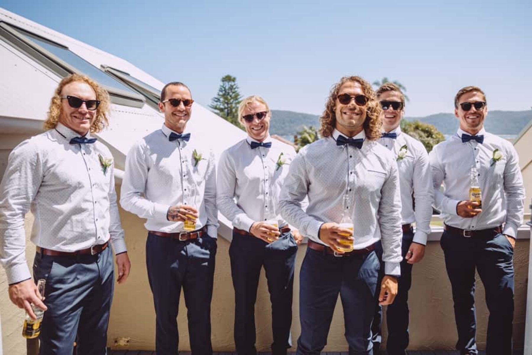 casual stylish groomsmen