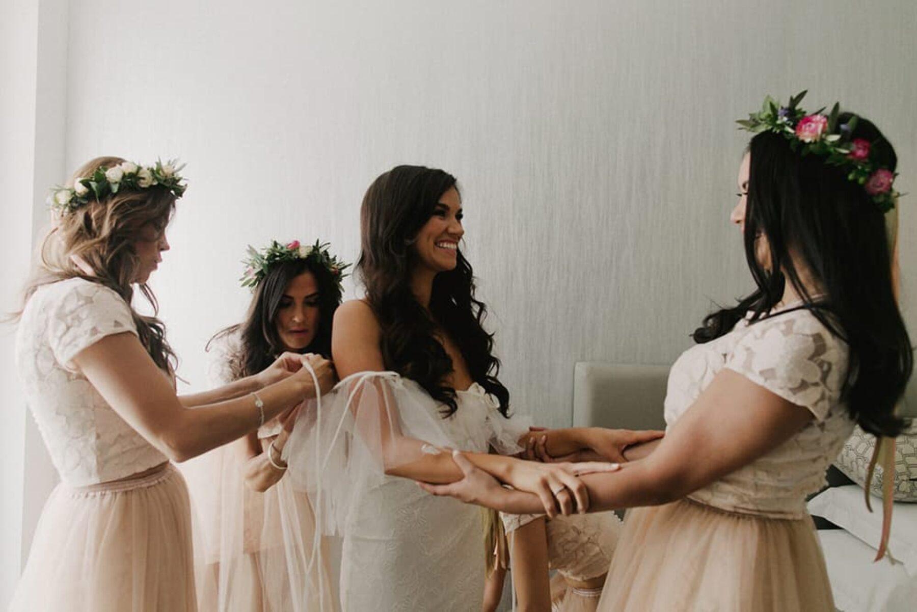 bridesmaid crop top separates