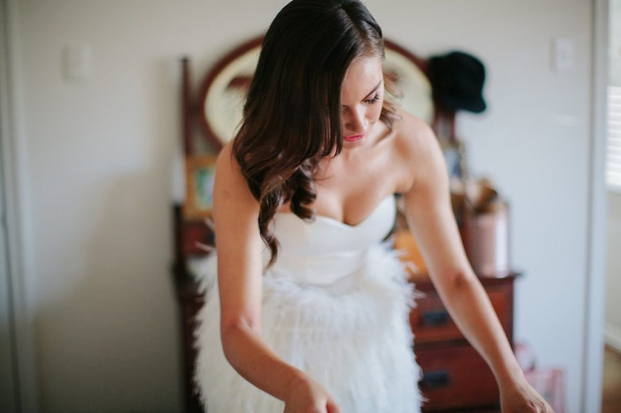 feather bridal skirt