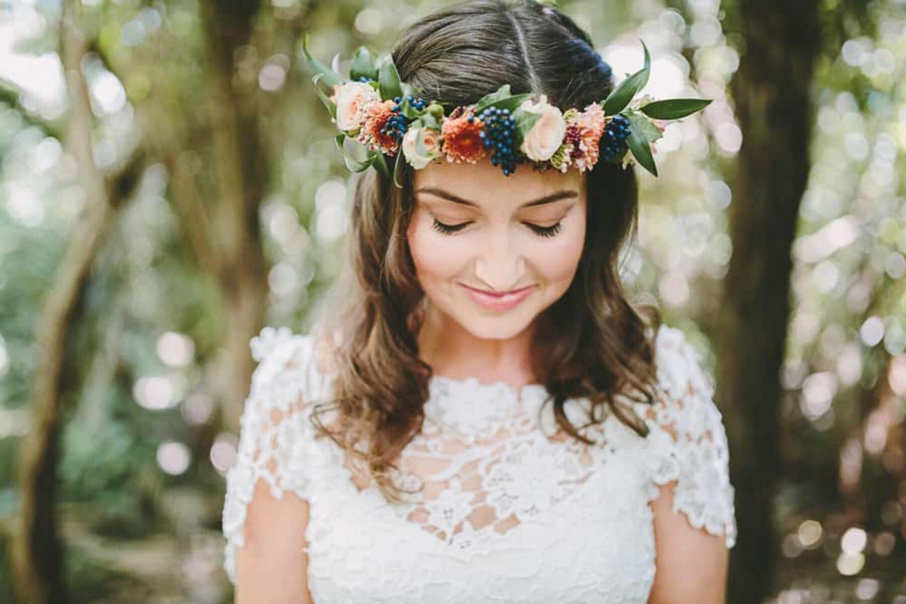 Rue de Seine bride with flower crown