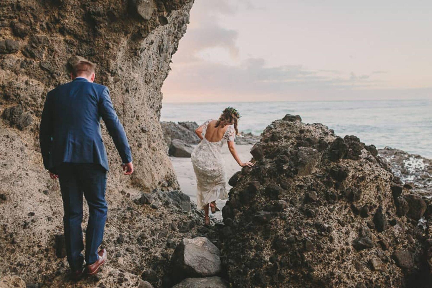 Piha Beach wedding - photography by Kate Wark
