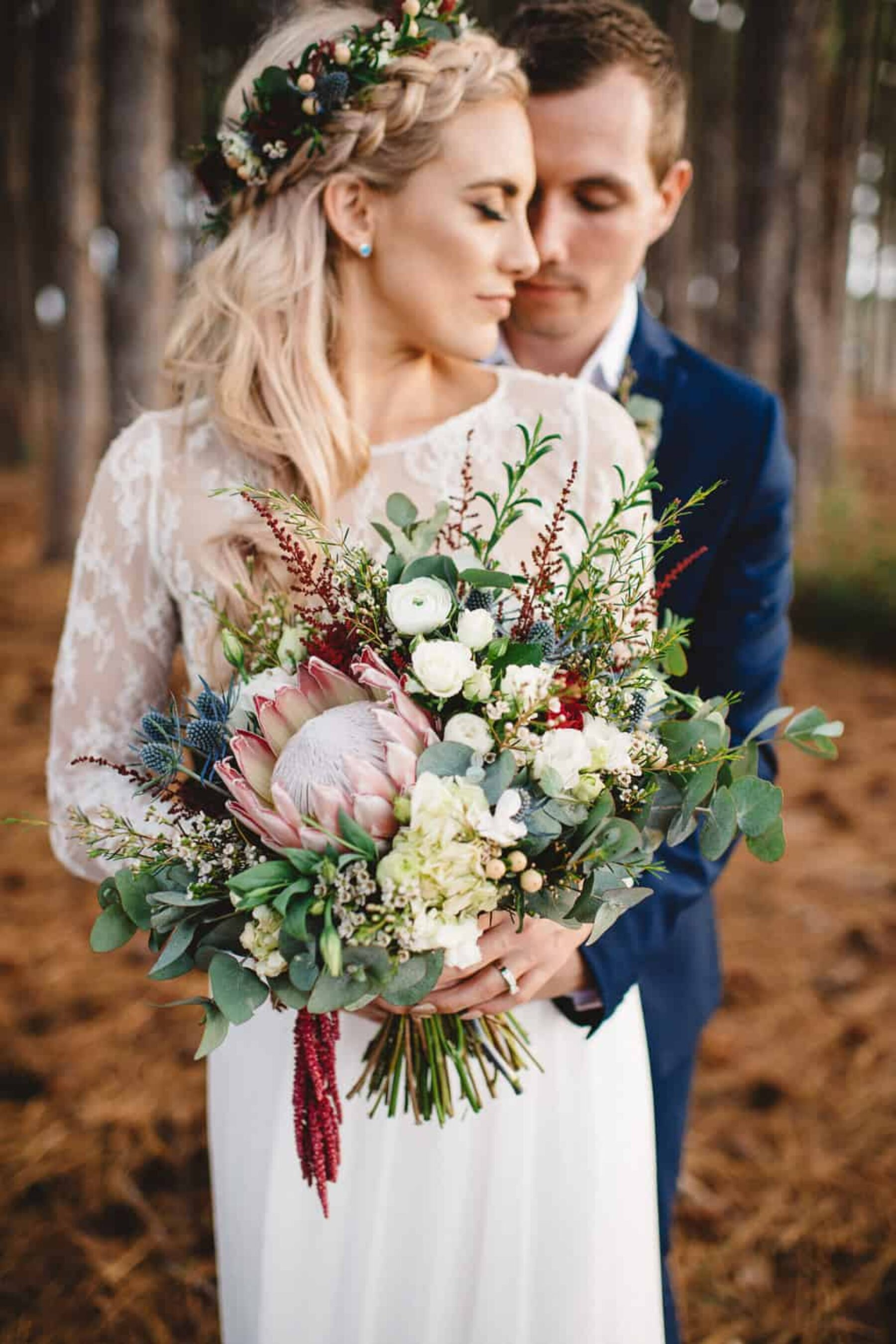 abundant native wedding bouquet