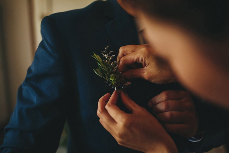 rosemary boutonniere