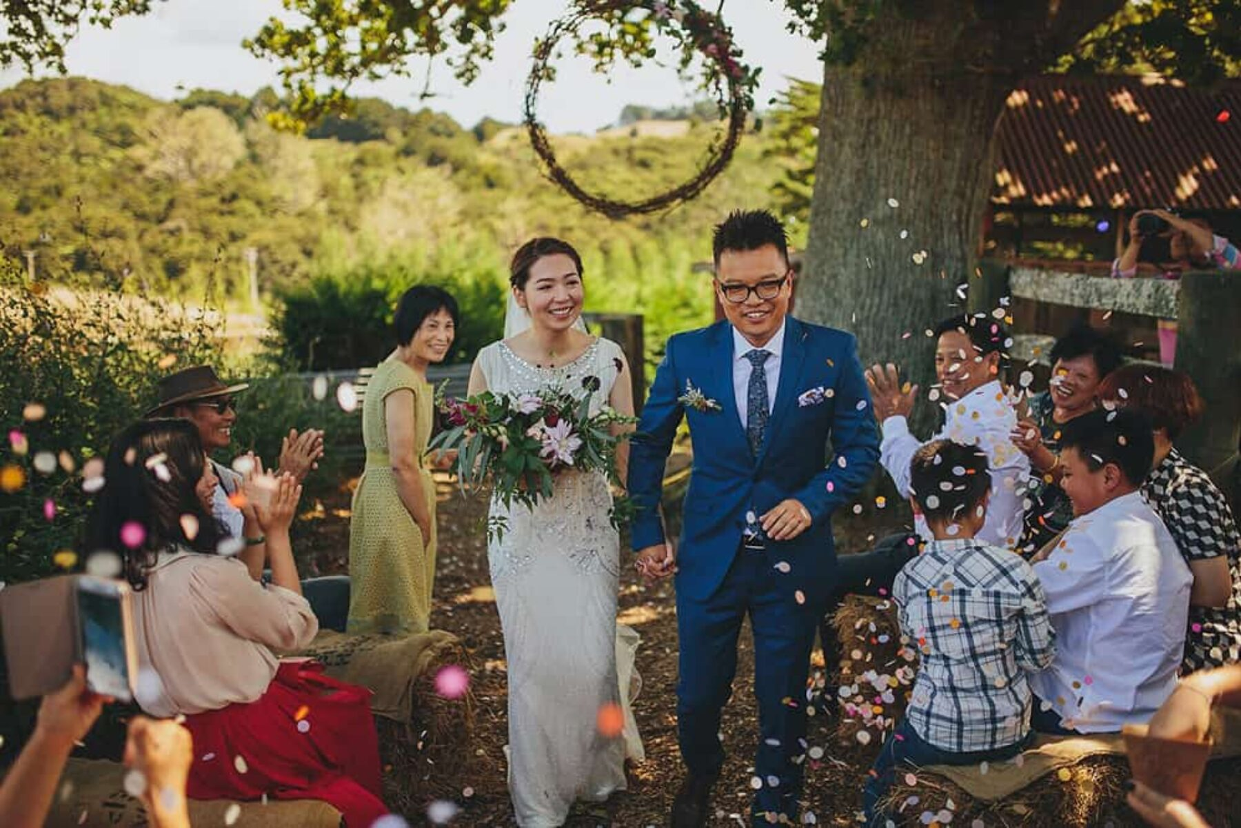 Relaxed rustic wedding at The Boutique Barn Auckland