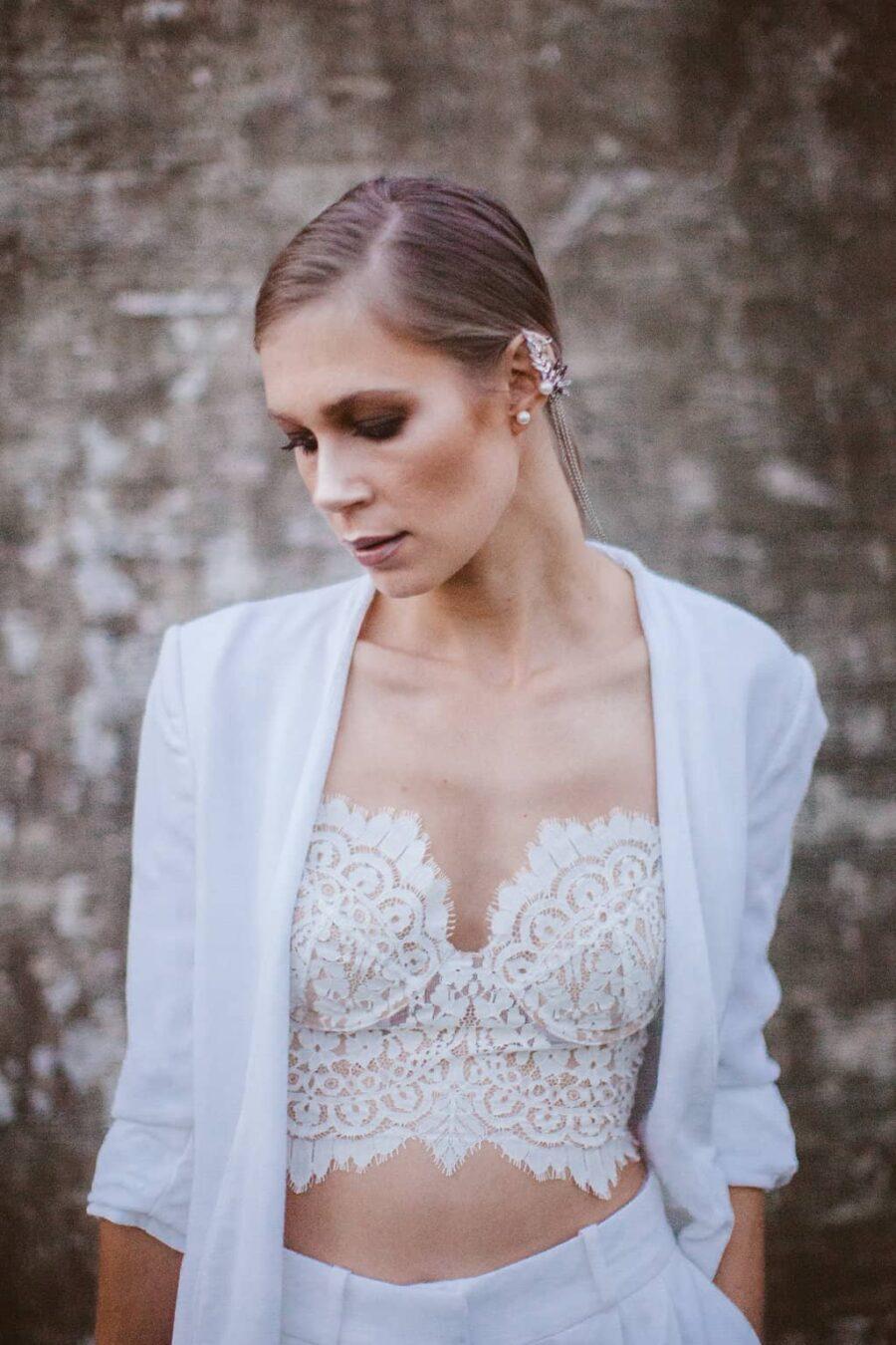 modern bridal look – For Love & Lemons + Zara